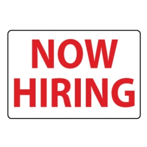 Now Hiring Sign 500x500