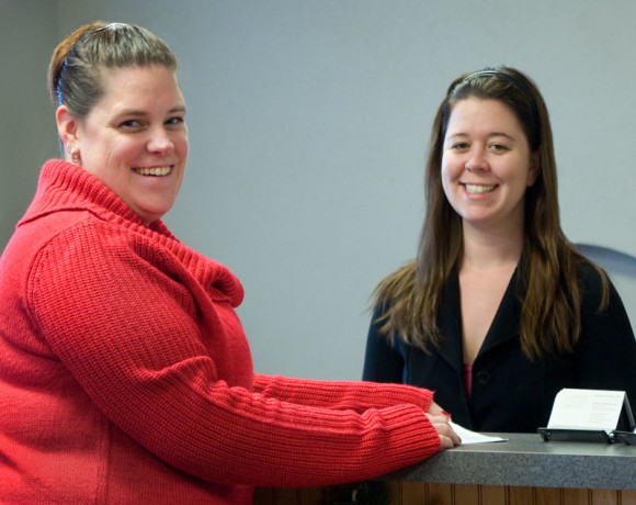 You'll probably meet one of these two women first when you visit our Fredericksburg office